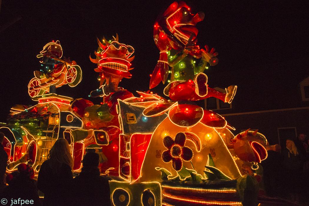 verlichte carnavals optocht van lemelerveld 2017